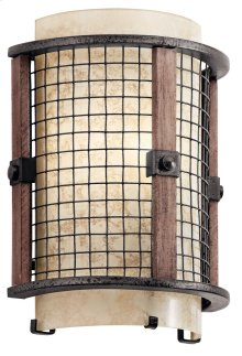 Ahrendale 1 Light Wall Sconce Anvil Iron