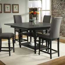 Corinne - Gathering Height Dining Table Top - Ebonized Acacia Finish