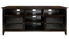 No Tools Assembly Dark Espresso Finish Wood A/V Cabinet This impressive Dar...