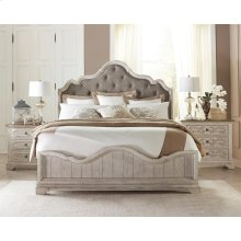 Elizabeth - Queen/king Bed Rails - Smokey White Finish