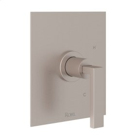 Satin Nickel Wave Pressure Balance Trim Without Diverter with Metal Lever