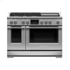 "Fisher & Paykel Dual Fuel Range, 48"", 5 Burners With Griddle, Self-Cleaning, Lpg"