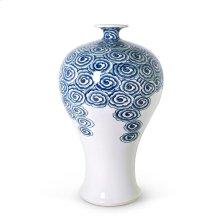 Aral Mei Ping Vase, Blue & White