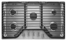 Whirlpool 36 inch 5 Burner Gas Cooktop with EZ-2-Lift Hinged Cast-Iron Grates