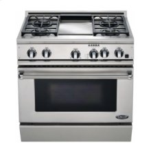 "36"" Dual Fuel, 4 Burner, Griddle"