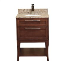 Aura Solid Wood Bathroom Vanity - 24 Inch