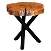 Shlok Accent Table in Natural with Black Legs