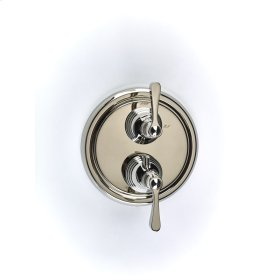 Dual Control Thermostatic with Volume Control Valve Trim Berea (series 11) Polished Nickel