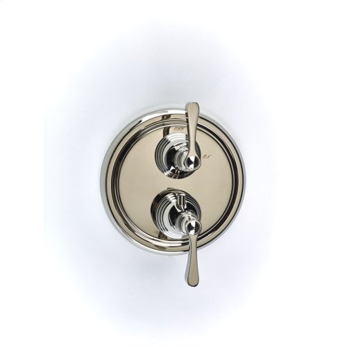Dual Control Thermostatic With Volume Control Valve Trim Berea Series 11 Polished Nickel