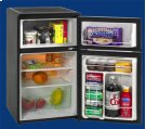 Model RA304BT-1 - 3.1 CF Two Door Counterhigh Refrigerator - Black Product Image