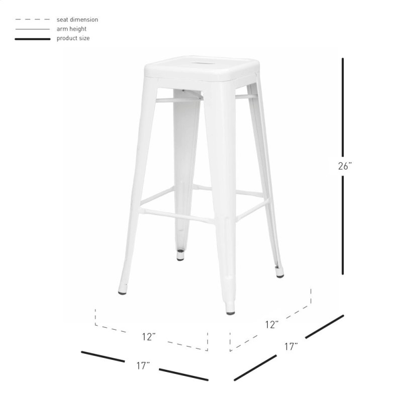 Sensational Metropolis Metal Backless Counter Stool White Caraccident5 Cool Chair Designs And Ideas Caraccident5Info