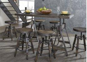 Adjustable Height Rectangular Table