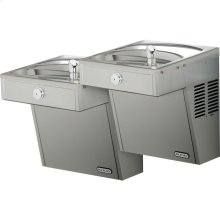 Elkay Cooler Wall Mount Bi-Level ADA Vandal-Resistant, Non-Filtered 8 GPH Stainless