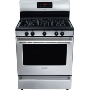 "Bosch30"" Gas Freestanding Range 500 Series - Stainless Steel HGS5053UC"