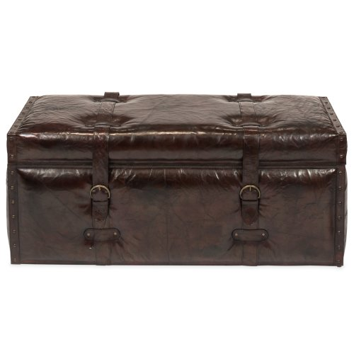 Laramie Leather Trunk Bench