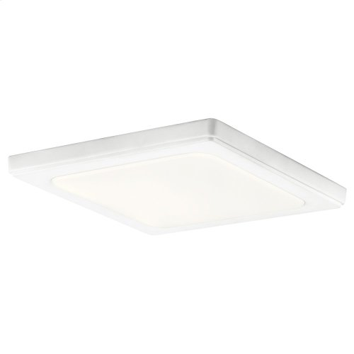 Zeo Collection Zeo 4000K LED 10 Inch square Flushmount WH