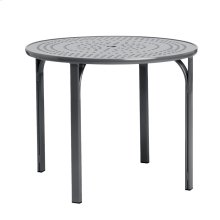 "Quantum 36"" Round Dining Table, Nova Aluminum Umbrella Top"