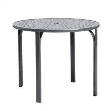 """Quantum 36"""" Round Dining Table, Nova Aluminum Umbrella Top"""