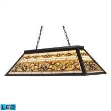 Tiffany Game Room-Lighting 4-Light Billiard / Island Light in Tiffany Bronze Metal - LED, 800 Lumens (