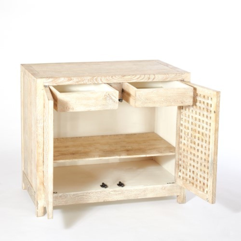 Driftwood Lattice Two-Door Cabinet