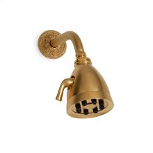 Antique Gold Classical Shower Head with Acanthus Flange