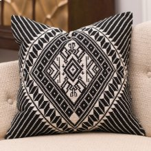 Hill Tribe Pillow-Black/White