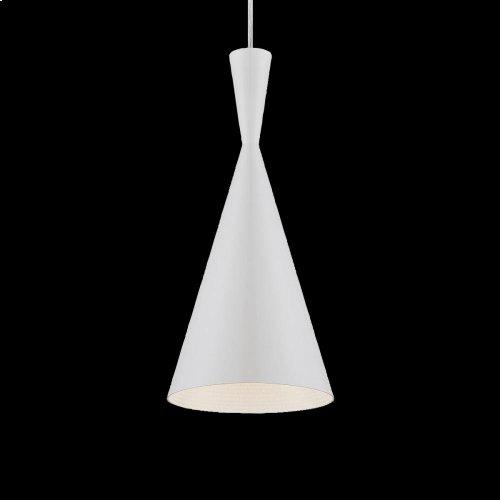 1-LIGHT PENDANT - White