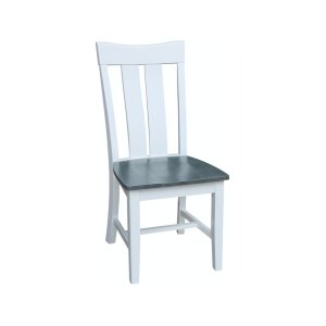 JOHN THOMAS FURNITUREAva Chair in Heather Gray & White