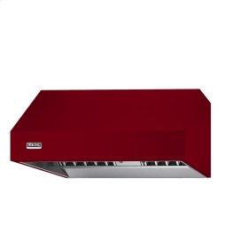 """Apple Red 48"""" Wide 24"""" Deep Wall Hood - VWH (24"""" deep, 48"""" wide)"""