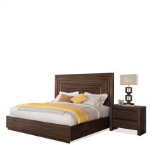 Modern Gatherings California King Platform Panel Bed Rails Brushed Acacia finish