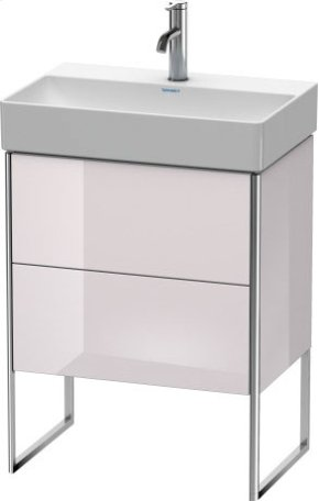 Vanity Unit Floorstanding Compact, White Lilac High Gloss Lacquer