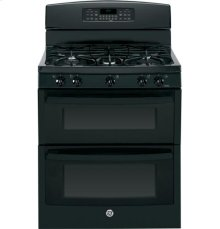 """GE® 30"""" Free-Standing Gas Double Oven Range with Convection"""