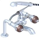 Exposed Tub Filler With Cradle Handshower, Deck Mounted Product Image