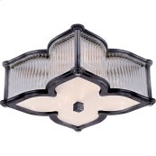 Visual Comfort AH4018GM/CG-FG Alexa Hampton Lana 2 Light 15 inch Gun Metal Flush Mount Ceiling Light in (None)