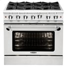 "Culinarian 36"" Gas Manual Clean Range Product Image"