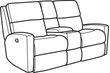 Catalina Fabric Reclining Loveseat with Console