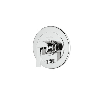 Polished Chrome Wave Pressure Balance Trim With Integrated Volume Control And Diverter