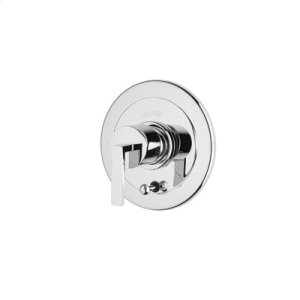 Polished Chrome Wave Pressure Balance Trim With Integrated Volume Control And Diverter Product Image