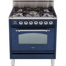 "Midnight Blue - Nostalgie 30"" Gas Range"