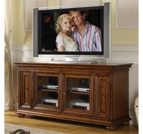 "Chatham 62"" TV Console Warm Transitional Cherry finish"