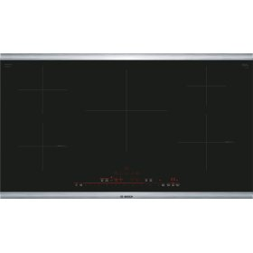 "800 Series 36"" Induction Cooktop with Home Connect , NIT8669SUC, Black with Stainless Steel Frame"