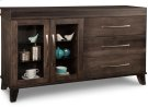 Verona Sideboard w/2 Glass Doors on Left & 3/Dwrs on Right & 2/Glass Adjust. Product Image