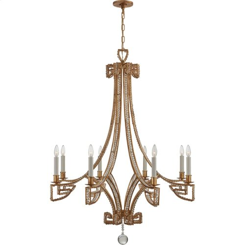 Visual Comfort NW5160GI-CG Niermann Weeks Gallina 6 Light 39 inch Gilded Iron Chandelier Ceiling Light, Medium