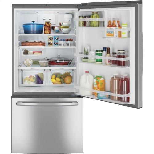 GE® ENERGY STAR® 24.8 Cu. Ft. Bottom-Freezer Drawer Refrigerator