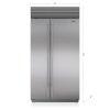 "Sub-Zero 42"" Classic Side-By-Side Refrigerator/freezer With Internal Dispenser"