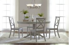 Everyday Classics Round To Oval Dining Table Top - Dove Grey