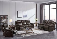 Warner Dual Recliner Sofa W/pwr Hr & Fr - Wine