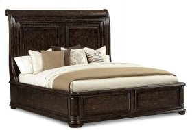 Collection One Eastern King Platform Sleigh Bed - Espresso