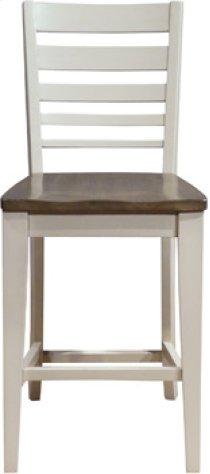 Ladder Back Stool Taupe & Pewter Product Image