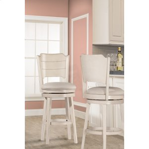 Hillsdale FurnitureClarion Swivel Bar Stool - Sea White Wood Finish